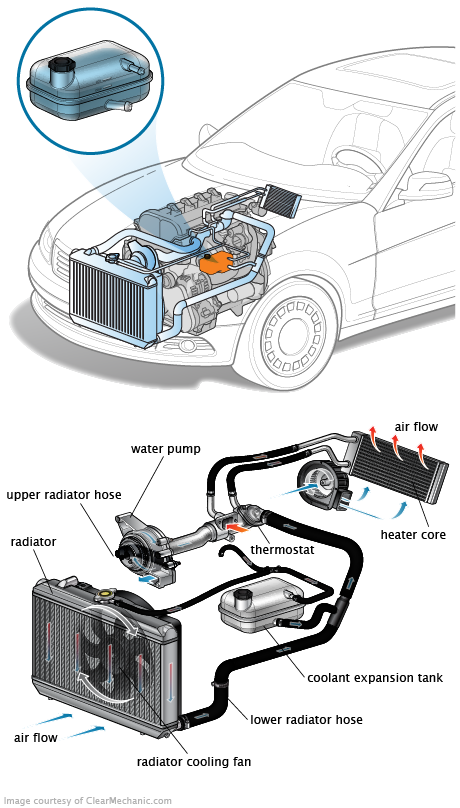 Coolant Expansion Tank on 1999 Buick Century Coolant Parts Diagram