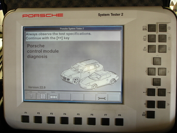 Portola Valley Garage - Porsche Systems II tester