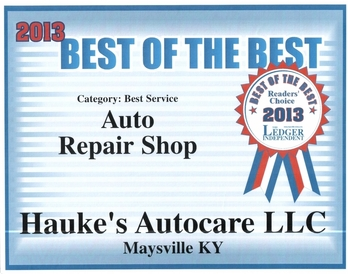 Hauke's Autocare LLC - Thanks for voting us Best of the Best in 2012 and 2013