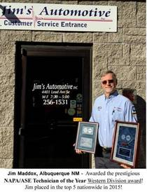 Jim's Automotive - 2015 NAPA/ASE Technician of the Year Western Division Award! Jim Ranked in the Top 5 nationwide!