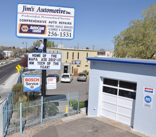 Jim's Automotive - Jim likes to catch up on the newest and latest material to provide excellent service in his shop.