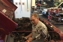 Jim's Automotive - Dale, a lead technician at Jim's for 25 years gets into his work!