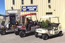 Jim's Automotive - Jims Automotive builds custom lifted golf carts too! Show quality if that is what you desire.