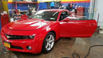 Tolima's Auto Center - 2012 Camaro candy red paint job