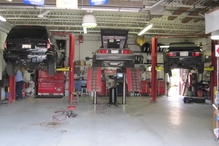 Genin's Autocare - The rear 3 service bays. 3 of our 6 service bays.