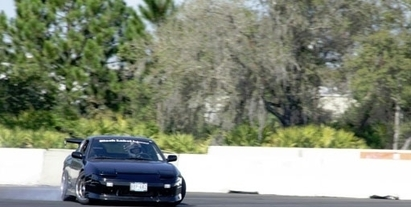 Black Label Performance - A drift Nissan 240SX that we built, sliding around the track in Orlando, FL.