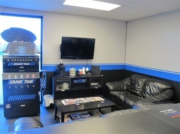 Black Label Performance - Our comfortable waiting room, plush with comfortable leather couches, HDTV, Playstation 3, complimentary Kuerig coffee and soda/snack vending machine and automotive magazines dating back to 1998!