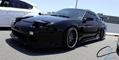 Black Label Performance - The drift 240SX at a premiere car show in Orlando, FL.