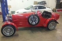 Independence Auto - This was a fun winter project. Old Buggati replica in for an engine rebuild.  These throw-backs make my job a lot of fun.