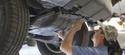 Tobias' Automotive Specialists - ASE certified technicians work on your vehicle!