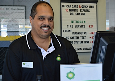 BP Car Care Center and Quick Lube - Elvis Villalobos - Store Manager