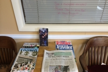 Lowell's Independent Automotive   Scion, Lexus, Toyota - We always have a nice selection of reading materials in our lobby. You can always take them with you if you're not finished with that great article! (We also have open Wi-Fi internet connections.)