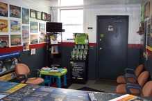 Cortland Auto Repair - This is our waiting room. It's small, but cozy & children friendly! You can watch TV while you wait.