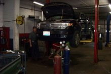 Cortland Auto Repair - Here's Ken, one of our certified technicians, hard at work!