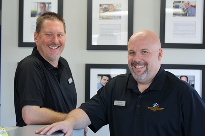 Virginia Auto Service - Tim Nelson, Service Advisor, Matt Allen, owner of Virginia Auto Service.