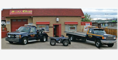 The Auto Shop, Inc. - Front of Shop with our Service Vehicles