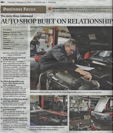 The Auto Shop, Inc. - artical in Denver Post on the Shop