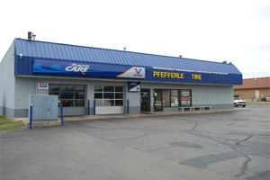 Pfefferle Tire and Automotive - View of store front
