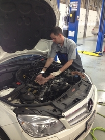 XDealerTechs - Shop pictures-Camshaft plugs being replaced on a Mercedes-Benz