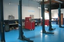 P R Motorsports - Inside the shop.
