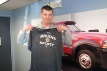Village Repair - Here's ........ Evan Schakenbach! Our first Bruins T Shirt Winner! We gave another one today in the shop! You could win too, just click on the yellow tab on the top of the page. Share with your friend
