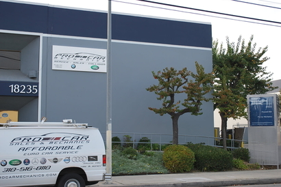 Pro Car Mechanics - View of our Repair Facility. Front, facing Figueora.  Pro Car Mechanics