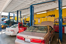 Leo's Auto Repair - Another view of work bays