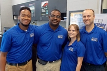 Victory AutoCare & Tire Center - Our Service Manager Paul Deerman and his team of Service Advisors are happy to help you. (from left to right Jeff Mallard, Rick Gaddis, Ashley Martin and Paul Deerman)