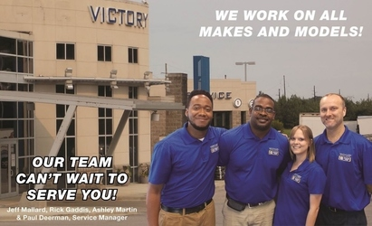 Victory AutoCare & Tire Center - Our Service Team is ready to help you with all our automotive needs.  We are open Monday - Saturday and we work on all makes and models.
