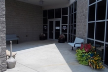 Victory AutoCare & Tire Center - Enjoy our outdoor seating area and our seasonal planters while you wait.