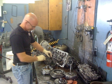 Leale's Transmissions & Auto - This is Jim Leale Jr rebuilding a transmission.