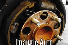 Triangle Auto Service - We offer free brake inspection. Sometimes a noise concern can be built up brake dust.  Let the experts at Triangle give you a brake assessment before replacing parts not needed.  Feel free to call us.
