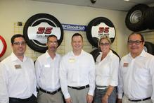 S&S Tire and Auto Service Center - Our Peoria staff, left to right: Rick Bustos, Jayson Hayes, Dan Benson-Assistant Manager, JoDee Hulsebus, Rudy Ramirez