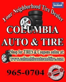 Columbia Auto & Tire Service - Menu Board Ad