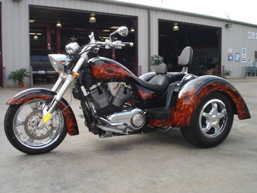 Excel Automotive Technology - Custom paint job on a Victory Trike