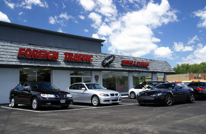 Foreign Traffic Import Sales & Service - Our building as seen from Route 8. Browse our many fine cars for sale