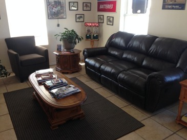 "Gary Johnston Automotive Service - Our comfy waiting room. Most people fall asleep while waiting for their vehicle. ""Make yourself at home""."