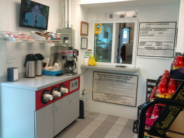 New Canaan Avenue Service. Inc - waiting area & snack shop