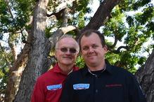 Leo & Son Garage Inc - Owner Joe Henderson left, Manager Don Henderson right