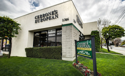 Cerrone's European - Cerrone's European building from El Camino Real. Cross Street Hazel and El Camino Real in Redwood City.