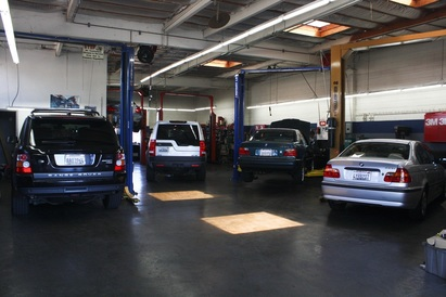 Cerrone's European - Cerrone's European interior. 5 bay shop with Hunter Alignment Rack system.