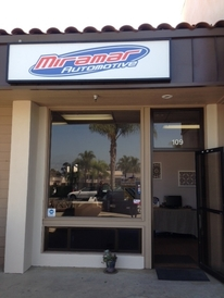 Miramar Automotive - Look for the sign over the door.