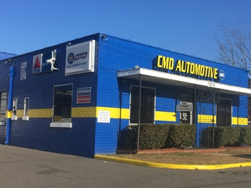 CMD Automotive - Conveniently located one block behind the Pepsi Plant and New Bern Light Rail Station off of South Blvd. - we provide our customers with free train passes; we are also next door to Triple C Brewery.