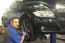CMD Automotive - Jason fixing brakes on a BMW.
