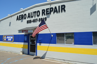 Aero Auto Repair - Northwest corner of Aero Drive and Ruffin Road, west of I-15. Please enter from Aero Drive.