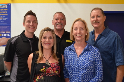 Aero Auto Repair - Customer Care Specialists, Left to right: Ryan, Lynette, David and owners, Sharon and Gary Anderberg.
