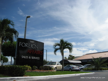 Foreign Affairs Auto - Our sign and entrance off Military Trail.