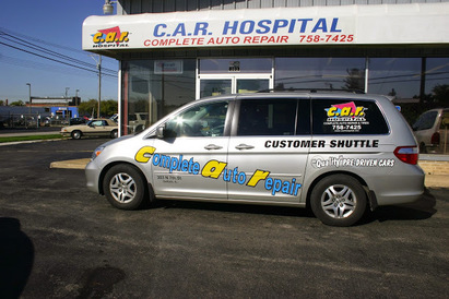 Bill White's Car Hospital - Our customer shuttle van will get you to work or home in the local area.