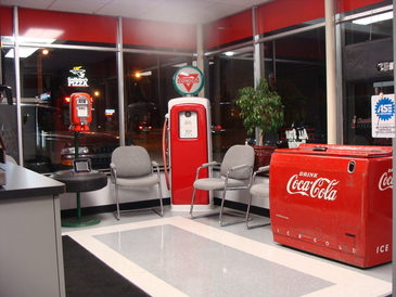 Chumbley's Auto Care - Clean, comfortable waiting area. Help yourself to a soda or coffee.