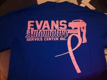 Evans Automotive Service Center - Relay for Life Team Shirt